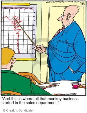 Comic Strip Jerry Van Amerongen  Ballard Street 2010-12-06 downturn