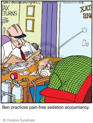 Comic Strip Jerry Van Amerongen  Ballard Street 2010-12-16 anesthesia