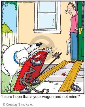 Comic Strip Jerry Van Amerongen  Ballard Street 2011-02-10 wagon