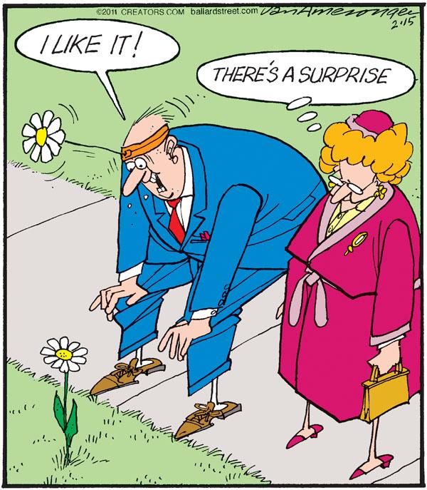 Comic Strip Jerry Van Amerongen  Ballard Street 2011-02-15 flower