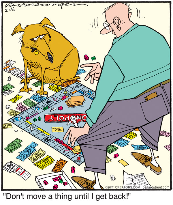Comic Strip Jerry Van Amerongen  Ballard Street 2011-02-16 board