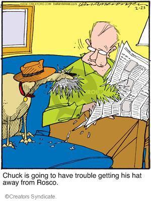 Comic Strip Jerry Van Amerongen  Ballard Street 2011-02-23 clothing