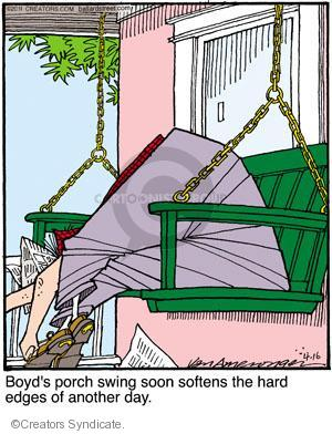 Comic Strip Jerry Van Amerongen  Ballard Street 2011-04-16 hard