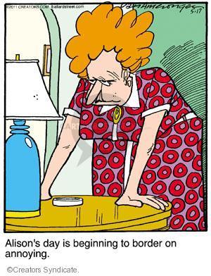 Comic Strip Jerry Van Amerongen  Ballard Street 2011-05-17 Alison