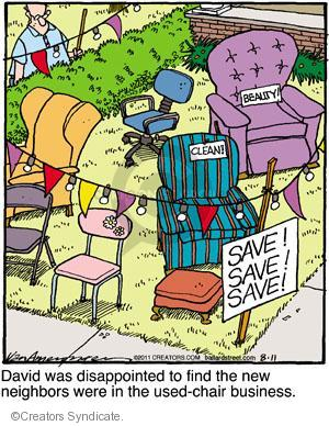 Comic Strip Jerry Van Amerongen  Ballard Street 2011-08-11 save