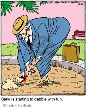Cartoonist Jerry Van Amerongen  Ballard Street 2011-08-29 playing