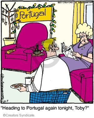 Comic Strip Jerry Van Amerongen  Ballard Street 2011-10-07 tonight
