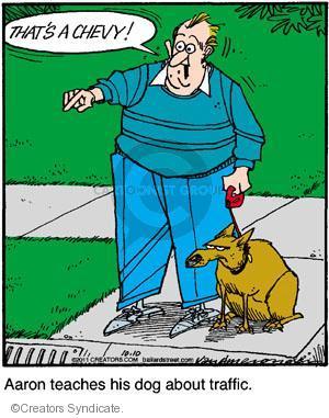Cartoonist Jerry Van Amerongen  Ballard Street 2011-10-10 dog training