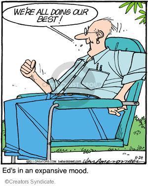 Comic Strip Jerry Van Amerongen  Ballard Street 2011-11-24 doing