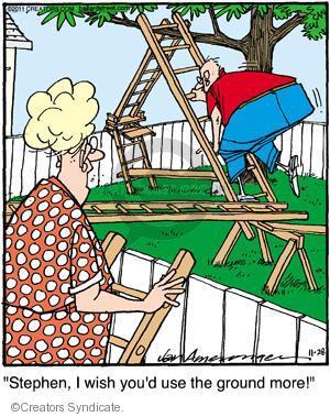 Comic Strip Jerry Van Amerongen  Ballard Street 2011-11-28 hazard