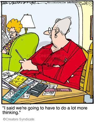 Comic Strip Jerry Van Amerongen  Ballard Street 2011-12-17 financial planning