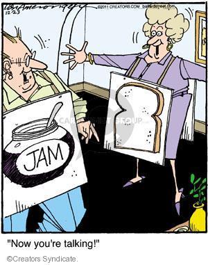 Comic Strip Jerry Van Amerongen  Ballard Street 2011-12-23 sandwich