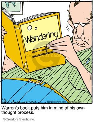 Comic Strip Jerry Van Amerongen  Ballard Street 2012-01-02 reading book