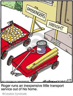 Comic Strip Jerry Van Amerongen  Ballard Street 2011-12-26 wagon