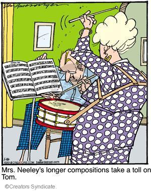 Comic Strip Jerry Van Amerongen  Ballard Street 2012-01-14 drum