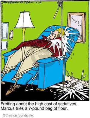 Comic Strip Jerry Van Amerongen  Ballard Street 2012-01-16 unconscious