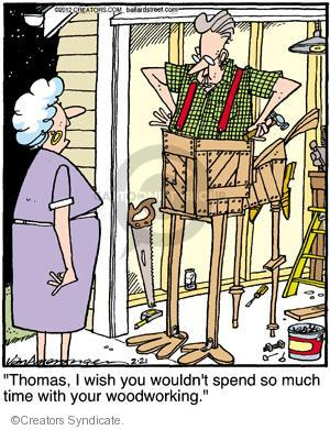 Comic Strip Jerry Van Amerongen  Ballard Street 2012-02-21 wooden
