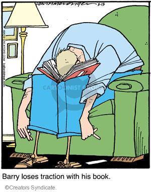 Comic Strip Jerry Van Amerongen  Ballard Street 2012-03-13 reading book