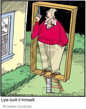 Comic Strip Jerry Van Amerongen  Ballard Street 2012-04-04 himself