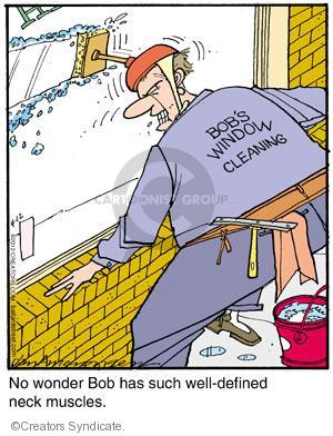 Bobs Window Cleaning. No wonder Bob has such well-defined neck muscles.
