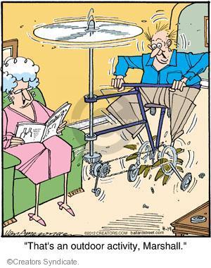 Comic Strip Jerry Van Amerongen  Ballard Street 2012-04-19 air