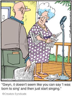 Comic Strip Jerry Van Amerongen  Ballard Street 2012-05-04 sing