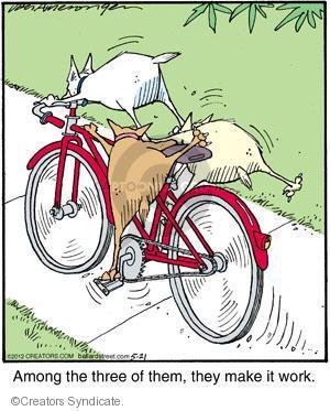 Comic Strip Jerry Van Amerongen  Ballard Street 2012-05-21 rider