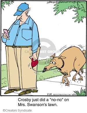 Comic Strip Jerry Van Amerongen  Ballard Street 2012-05-29 poop