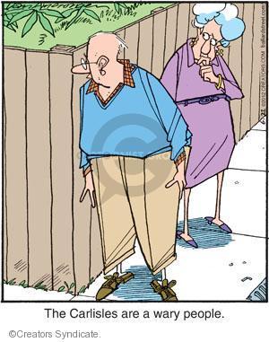 Comic Strip Jerry Van Amerongen  Ballard Street 2012-06-22 paranoia