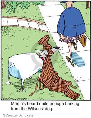 Cartoonist Jerry Van Amerongen  Ballard Street 2012-07-25 dog bark