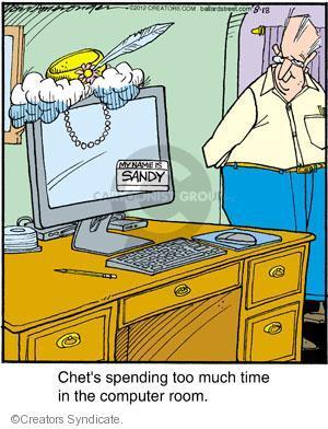 Cartoonist Jerry Van Amerongen  Ballard Street 2012-08-18 technology