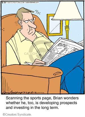 Comic Strip Jerry Van Amerongen  Ballard Street 2012-09-20 newspaper advertising