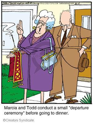 Comic Strip Jerry Van Amerongen  Ballard Street 2012-10-05 Todd