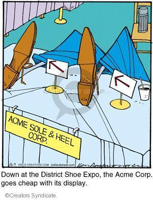 Comic Strip Jerry Van Amerongen  Ballard Street 2012-11-07 footwear
