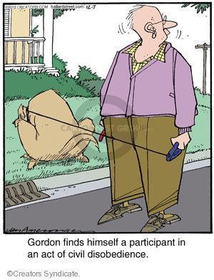 Cartoonist Jerry Van Amerongen  Ballard Street 2012-12-07 dog