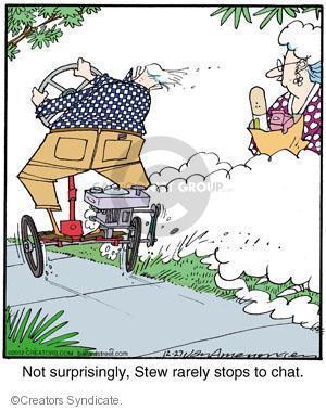 Comic Strip Jerry Van Amerongen  Ballard Street 2012-12-27 stop