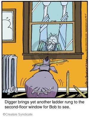 Cartoonist Jerry Van Amerongen  Ballard Street 2013-02-01 dog