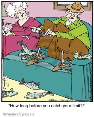 Comic Strip Jerry Van Amerongen  Ballard Street 2013-05-28 angler
