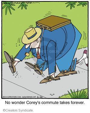 Comic Strip Jerry Van Amerongen  Ballard Street 2013-06-24 commute