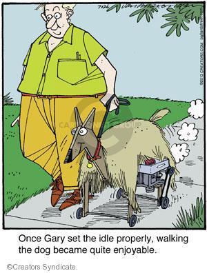 Cartoonist Jerry Van Amerongen  Ballard Street 2013-07-26 dog