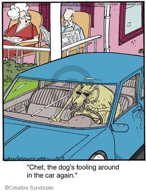 Cartoonist Jerry Van Amerongen  Ballard Street 2013-10-09 dog