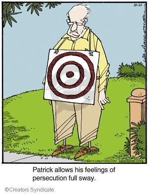 Comic Strip Jerry Van Amerongen  Ballard Street 2013-10-21 paranoia