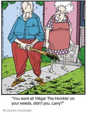 """""""You went all Hagar The Horrible on your weeds, didn't you, Larry?"""""""