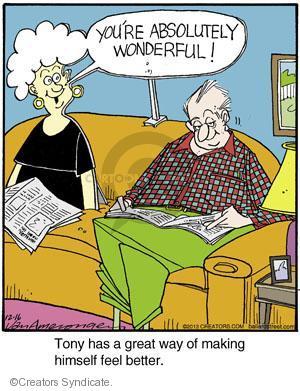 Comic Strip Jerry Van Amerongen  Ballard Street 2013-12-16 self-esteem