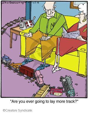 Comic Strip Jerry Van Amerongen  Ballard Street 2014-02-14 toy train