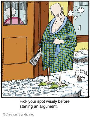 Comic Strip Jerry Van Amerongen  Ballard Street 2014-02-19 argument