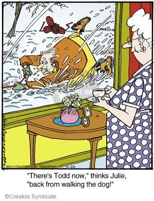 Comic Strip Jerry Van Amerongen  Ballard Street 2014-02-22 leash