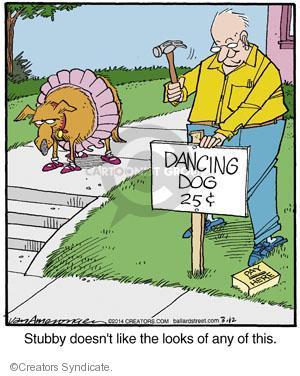 Cartoonist Jerry Van Amerongen  Ballard Street 2014-03-12 dog