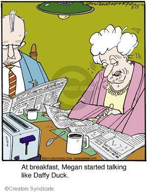 Comic Strip Jerry Van Amerongen  Ballard Street 2014-03-17 breakfast