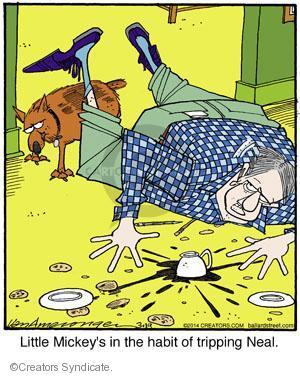Cartoonist Jerry Van Amerongen  Ballard Street 2014-03-19 dog